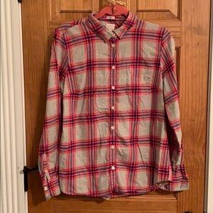 J Crew flannel shirt